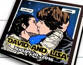 Star Wars Wedding - Unique Wedding Guest Book - I Love You, I know -  Wedding Guest Book - Star Wars Geek Wedding  Star Wars Wedding Decor