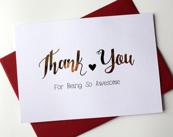 Mother's Day Father's Day Valentine's day card Thank You For Being so Awesome