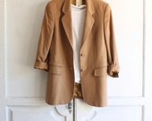 vintage cashmere boyfriend blazer 80s oversized jacket made in Italy
