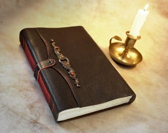 SALE! RESERVED for HOLLY large leather journal, vintage style paper, brown leather cover notebook, A Story to Remember