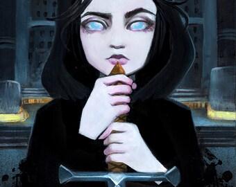 "Arya Stark Tribute: ""A Girl Has No Name"" 11x14 Fine Art Print by Leilani Joy"