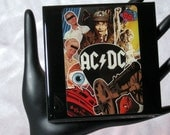 AC/DC Collector Card Drink Coaster