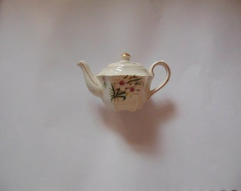 Cute tiny mini Sadler teapot spring flowers for the month of March