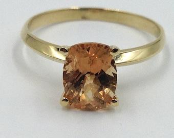 Tourmaline Engagement Ring, Golden Tourmaline Ring, Bridal Jewelry, October Birthstone Ring, Anniversary Gift