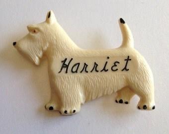 Scotty Dog Brooch Harriet