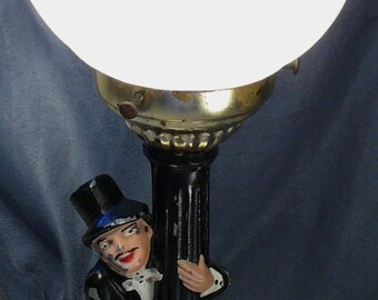 Vintage Bar Lamp Drunk on Lamppost