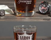 Personalized mens Wedding Whiskey Glass Personalized Rocks Glass Drinking Gifts Custom Drinking Glasses Old Fashioned Glasses