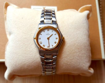 New Lisiting Sale... Pristine Mint Condition 18k Gold Stainless Steel Authentic EBEL Ladies Sport Classique Watch. Perfect Gift