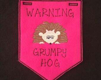 Hedgehog-Grumpy Banner- Girl