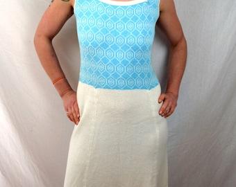 Vintage Hampton Court Knits 1960s 60s Boho Knit Maxi Dress