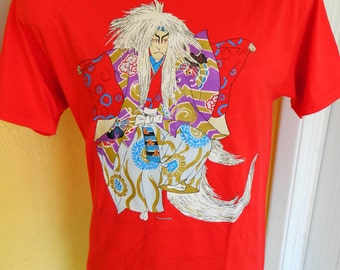 1991 anime soft red vintage t-shirt - size large