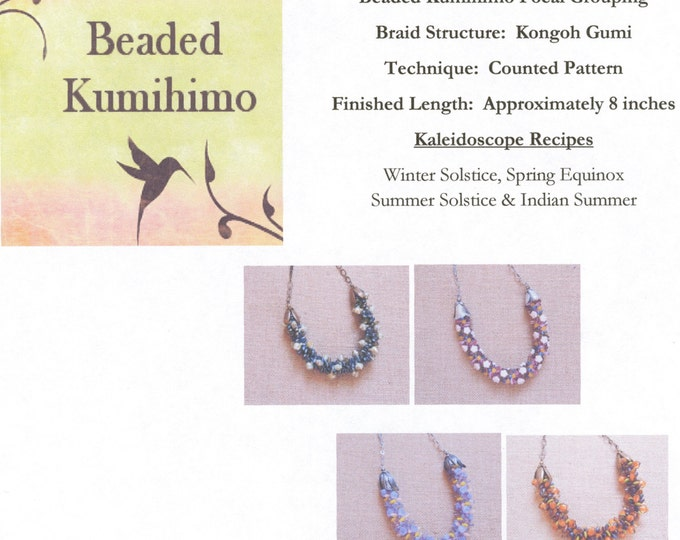 Tutorial for Kaleidoscope Beaded Kumihimo Focal Grouping, Kaliedoscope Recipes, Beaded Kumihimo, Focal Grouping Tutorial