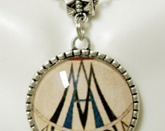 Marian symbol/tree of life reversibe pendant and chain - AP05-104 - 50% OFF