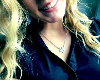 Silver Fox Necklace, Woodland Jewelry, Fox Jewelry, Petite Fox, Minimalist Jewelry, Layered Necklace, Silver Fox, Animal Jewelry, LOVE Gift