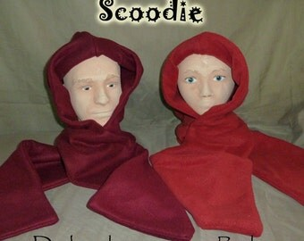 Dark red scoodie