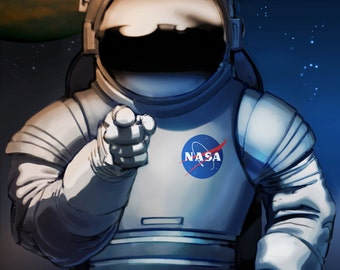 One NASA Mars Poster - We Need You