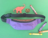 Purple and Cheetah Print Kids Fanny Pack - READY TO SHIP