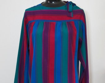 Vintage Liz Claiborne 80s Blouse, Vintage 80s blouse, Vintage blouse, Striped blouse, Liz Claiborne, 80s work, 80s office, 80s costume
