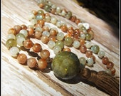 Sunstone Mala, Labradorite Mala, Moonstone Mala, Prayer Beads, Japa Mala