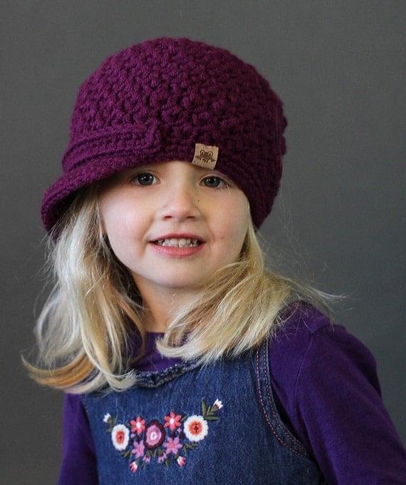 Crochet PATTERN Cumberland Newsboy Cap Crochet Newsboy Hat Pattern Includes 6 Sizes