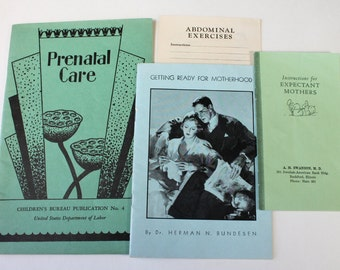 Vintage Lot Maternity Care Prenatal Care Pregnancy Care,Medical Care Booklets Pamphlets,Getting Ready For Motherhood,  1930s