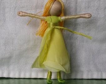 Rose Flower Fairy - Waldorf Flower Fairy Doll - Rosebud