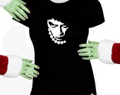 Voodoo Sugar Rocky Horror Frank N Furter Black Missy Fit t-shirt Plus Sizes Available