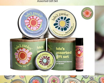 Mothers Day Gift Set, Skin Care, Salves & Balms, Aromatherapy - Includes Moisturizing Natural Lip and Hand Therapy