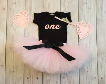 Paris Birthday Tutu   Chic 1st Birthday Tutu Dress   Baby Birthday Tutu   Cake Smash Tutu   Tutu Skirt   Pink Birthday Tutu
