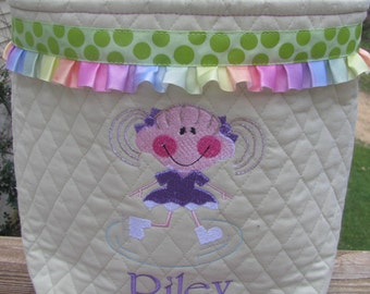 Personlized Ice Skating Tote