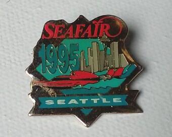 Vintage collectable commemorative 1995 Seattle Seafair Lapel Pin