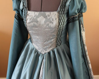 "Bust 40""  Fisherman's Daughter Tudor Dress Ever After Renaissance Medieval Gown Game of Thrones Theme Wedding"
