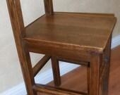 Quality Antique Quartersawn Mission Oak Child's Size Chair Petite Arts & Crafts
