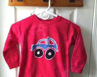 Kids Truck Shirt, Monster Truck Shirt, Boys Truck Shirt, Girls Truck Shirt, Red Truck Shirt, Blue Truck Shirt, Red Monster Truck Shirt (4/5)