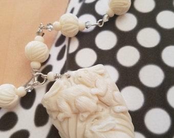 Rabbit Family Necklace