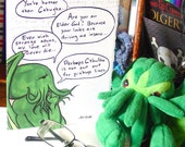 Cthulhu Valentine - Pickup Lines - Blank Card - Elder Gods are Bad at Romance
