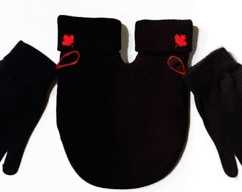 Canada SMITTEN (Mitten for couples) Red Maple leaf, Gloves and Smitten Card Included. Share your mitten! FREE Shipping USA
