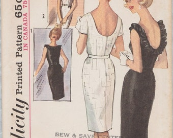 Simplicity 5486 / Vintage 60s Sewing Pattern / Dress / Size 14 Bust 34