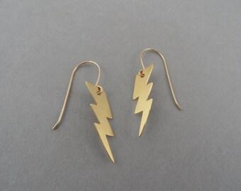Lightning earrings, thunderbolt, lightning bolt earrings