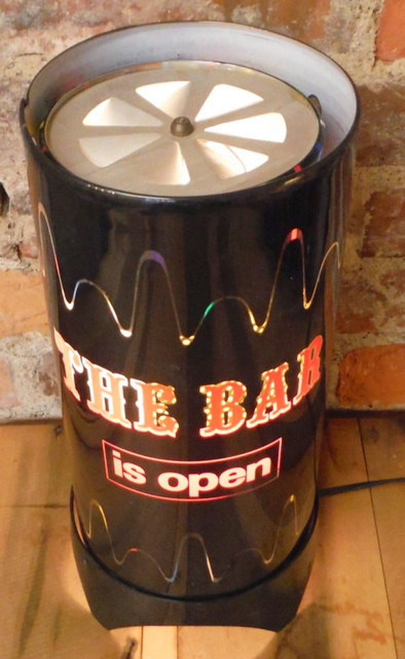Vintage Bar Is Open Motion Lamp Spinning Mid