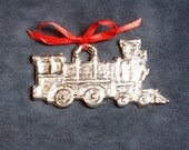 Pewter Train Ornament