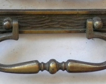 one vintage drawer pull 3 inch centers antique brass