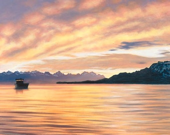 Pacific Sunset Canvas Giclee Print