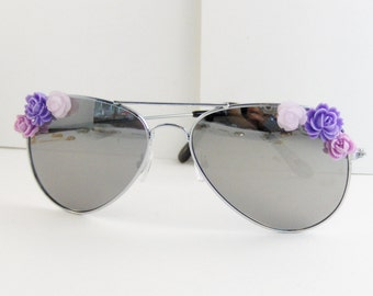 Purple Posies,Lavender Sunglasses,Sunglasses,Glasses,Aviator,Aviator Sunglasses,Purple,Purple Sunglasses,Pink Sunglasses,Clubmaster,