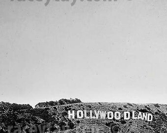 Black & White Photography, Hollywoodland Sign, Travel Gift, Los Angeles Print, California Prints, Vintage, 40s 1940s