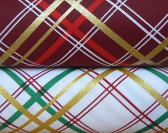 Bow Tie Plaid Cotton Fabric by Michael Miller - 1 Yard