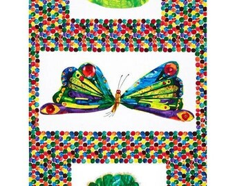 The Very Hungry Caterpillar Transformation Panel Fabric  by Eric Carle for Andover Fabric