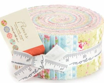 Fleurs Jelly Roll from the Fleurs Collection by Brenda Riddle For Moda