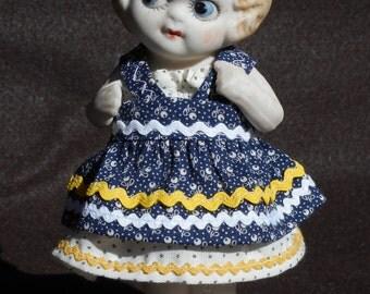 Vintage Made In Japan Kewpie Style Porcelain Vintage Doll Googly Eyed Doll