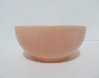 Vintage Fire King Fired On Pink Chili Bowl